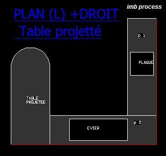 cuisine (L) + table projeté