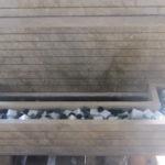 fontaine à murette de jardin