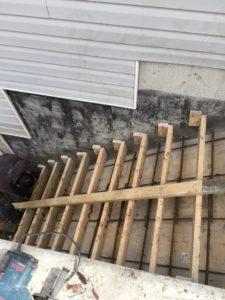 coffrage des pas d'escalier