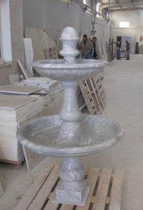 fontaine blanc de carrara