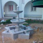 fontaine arabesque de jardin