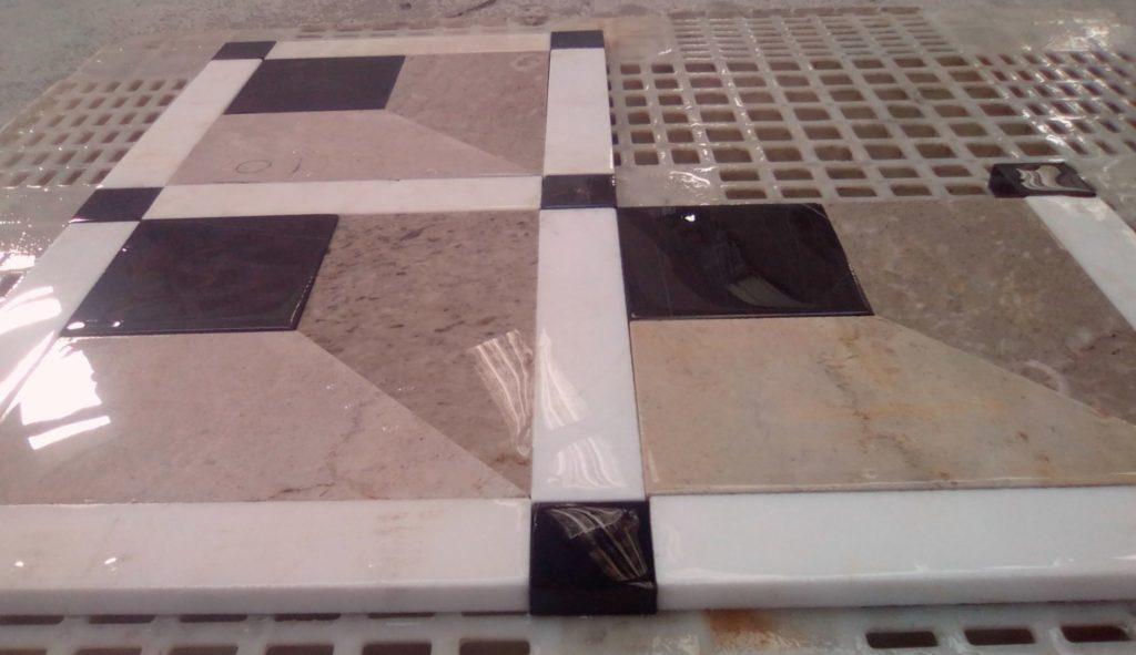 motif damier 3 D decor au sol