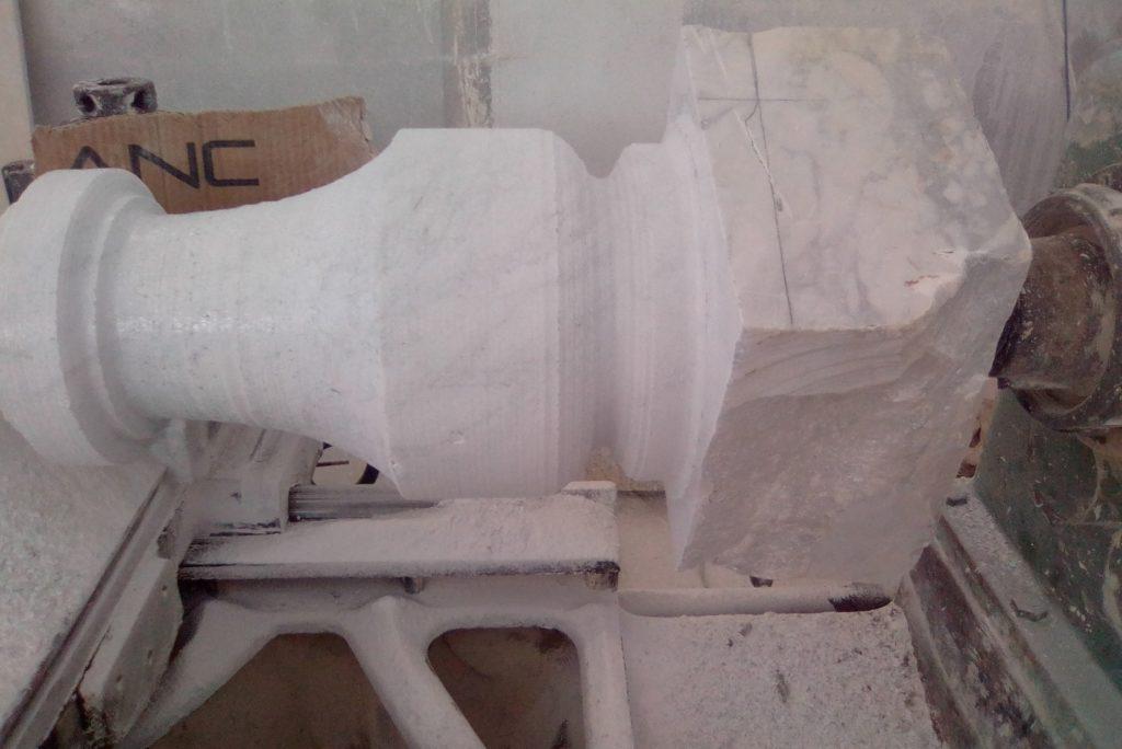 tournage de massif blanc de carrara